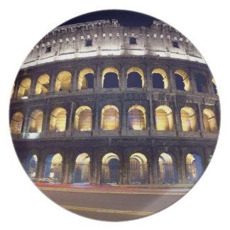 Night shot of Colosseum Plate