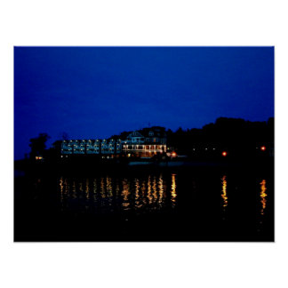 Night Time Bar Harbor Poster