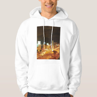 Night Traffic And Monument Hoodie