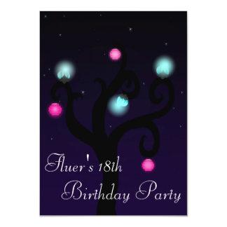 Night Tree Invite 11 Cm X 16 Cm Invitation Card