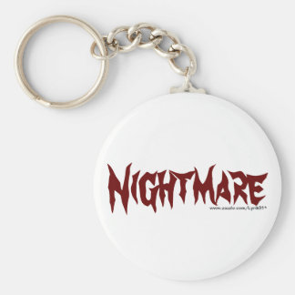 Nightmare Basic Round Button Key Ring