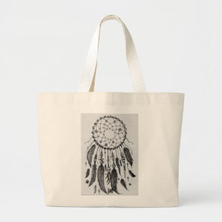 nightmare native indian dream catcher witchcraft large tote bag