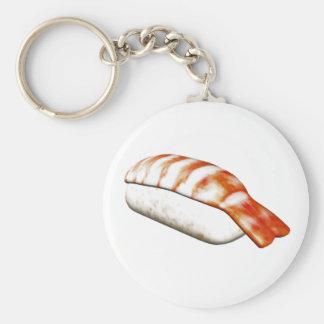 Nigiri Ebi Sushi Basic Round Button Key Ring