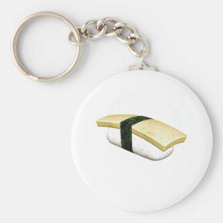 Nigiri Tamago Sushi Basic Round Button Key Ring
