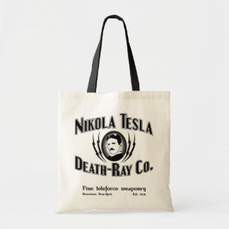 Nikola Tesla Death-Ray Co. Tote Bag