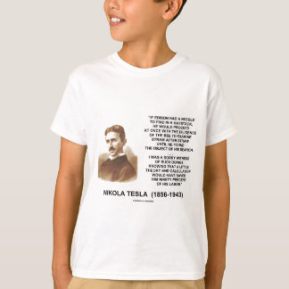 Nikola Tesla Edison Needle Haystack Theory Quote T-Shirt