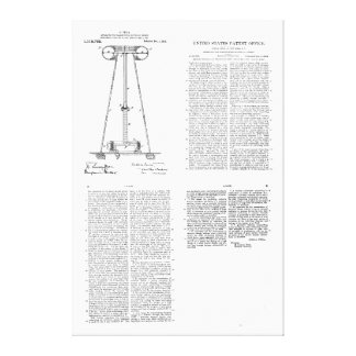 Nikola Tesla Energy Transmission Pantent US1119732 Canvas Print
