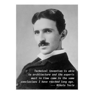 Nikola Tesla Quote Poster