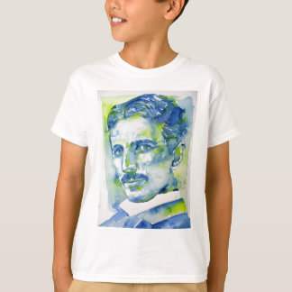 nikola tesla - watercolor portrait.1 T-Shirt