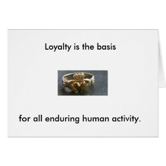 Nine Noble Virtues: Loyalty Card