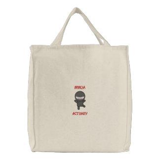 Ninja Actuary Embroidered Bag