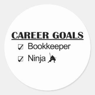 Ninja Career Goals - Bookkeeper Classic Round Sticker