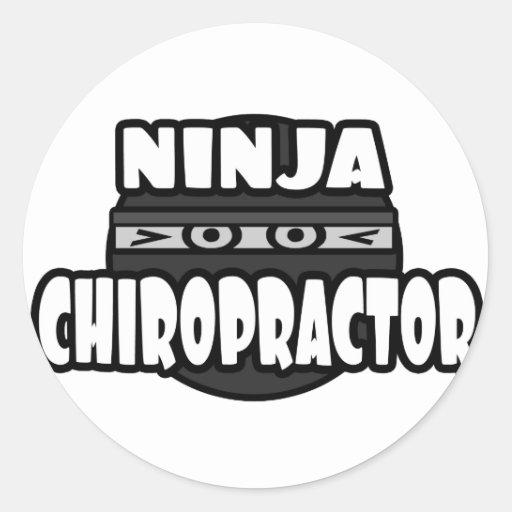 Ninja Chiropractor Sticker