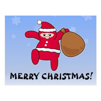 Ninja Santa? Merry Christmas! Postcard
