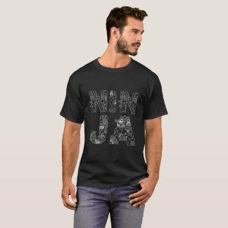 Ninja unique decorative text black T-Shirt