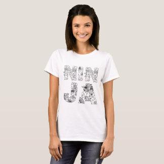 Ninja unique decorative text T-Shirt