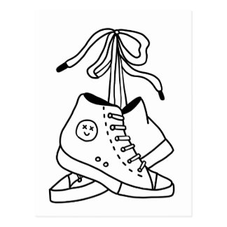NIRVANA CONVERSE, CONVERSE, SNEAKERS, CUTE DESIGN POSTCARD