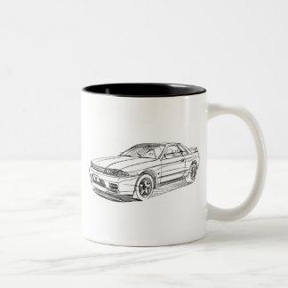 Nis Skyline GTR R32 Two-Tone Coffee Mug