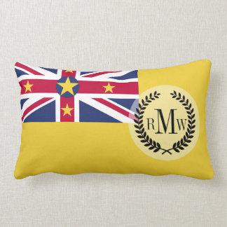 Niue Flag Lumbar Pillow