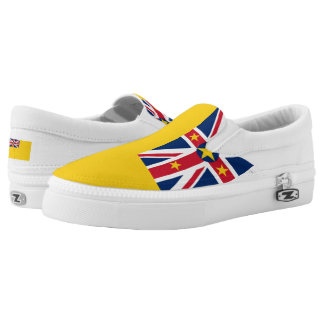 NIUE FLAG --.png Slip On Shoes
