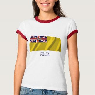 Niue Waving Flag with Name T-Shirt