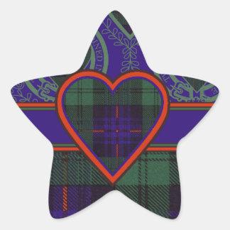 Nixon clan Plaid Scottish kilt tartan Star Sticker