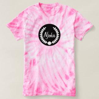 Njoku 'Wreath' Cyclone Pink Tie-Dye T-Shirt. Shirt