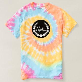 Njoku 'Wreath' Pastel Tie-Dye T-Shirt. Tee Shirts