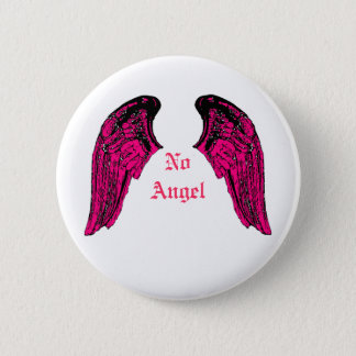 no angel 6 cm round badge
