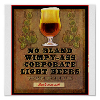 No bland beers served here print