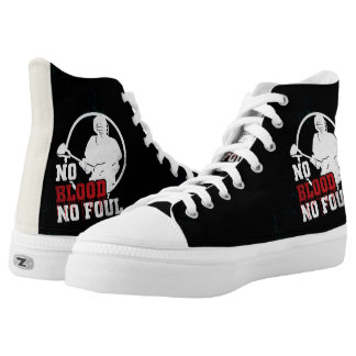 No Blood No Foul Lacrosse High Tops Sneakers