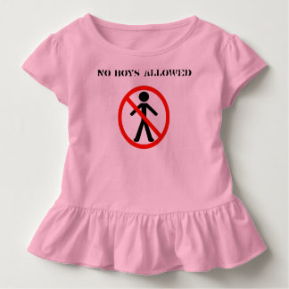 No Boys Allowed Girl's Only Club Sleep Overs Toddler T-Shirt