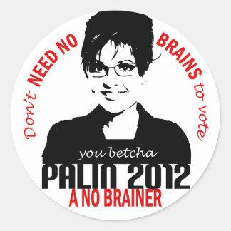 No Brains Sticker