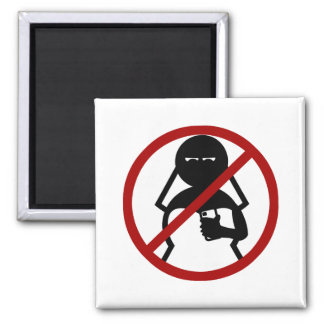No Cell Phone Bride at Wedding Refrigerator Magnet