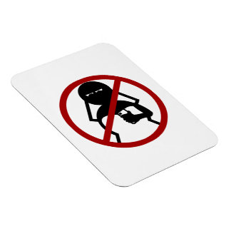 No Cell Phone Bride at Wedding Vinyl Magnet