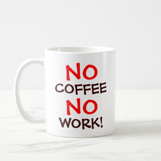 No Coffee Basic White Mug