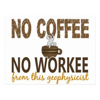 No Coffee No Workee Geophysicist Postcard