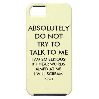 NO CONVERSATIONS TOUGH iPhone 5 CASE