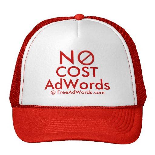 """""""NO COST"""" Adwords - Ad Cap Hats"""