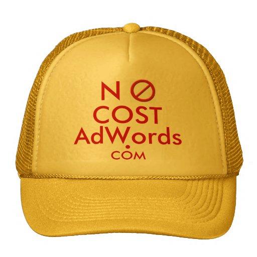 NO COST Adwords .COM - Ad Cap Hats