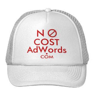 NO COST Adwords COM - Ad Cap Hats