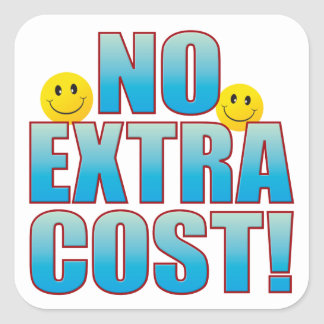 No Cost Life B Square Sticker