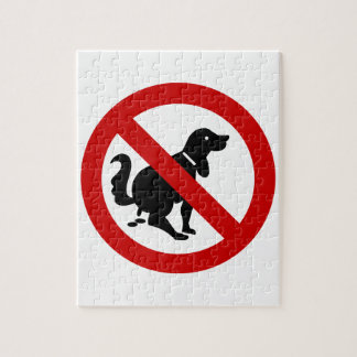 NO Dog Fouling ⚠ Thai Sign ⚠ Jigsaw Puzzle