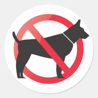 No dogs allowed classic round sticker