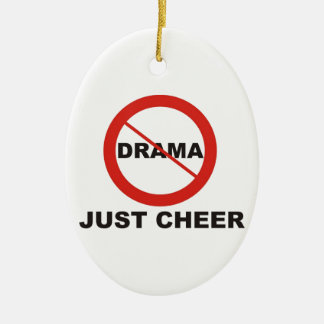 No Drama Just Cheer Christmas Ornament