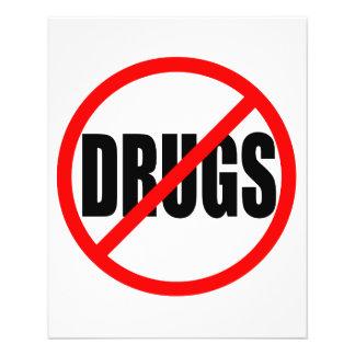 """NO DRUGS"" 11.5 CM X 14 CM FLYER"