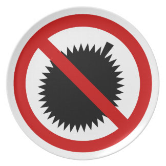 NO Durian Tropical Fruit ⚠ Thai Sign ⚠ Plate