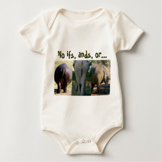 No excuses t-shirt--no ifs, ands or butts baby bodysuit