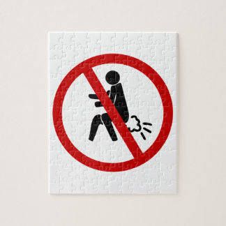 NO Farting ⚠ Funny Thai Toilet Sign ⚠ Jigsaw Puzzle