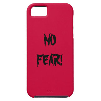 NO FEAR IN BASIC RED WITH BLACK iPhone 5 COVER